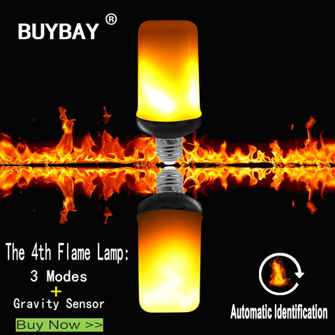 LED Flame Effect Fire Light Bulb Flickering Simulated Lighting - Vintage - Decoration Bar, Party Festival, Camping, Halloween, Christmas, Parties - E26, E27