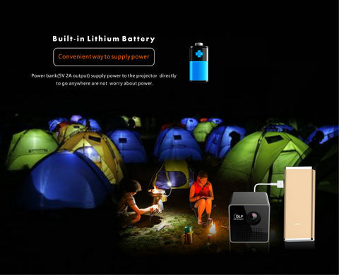 Mini Portable Home Cinema Cube Wifi Video Projector  - Screen 4 to 70 inch Large Projection -Wireless Connection  - iphone/Android Smartphone