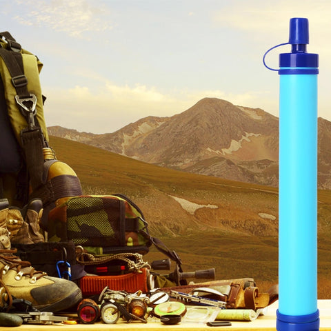 Personal Water Filter Straw for Hiking, Camping, Travel, and Emergency Preparedness - Disaster Tool For Prepper Gear Survival Kit
