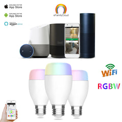 WiFi Smart LED Light Bulb, Smartphone Controlled - Wake Up and Dimming Multicolored Changing LED Night Light, Wireless Cell Smartphone Control