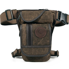Men's Canvas Drop Leg Bag Waist Fanny Pack Belt Hip Bum Military Travel Motorcycle Multi-purpose Messenger Shoulder Bags