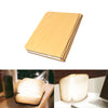Image of USB Rechargeable LED Foldable Wooden Book Shape Desk Lamp Nightlight Booklight for Home Decor