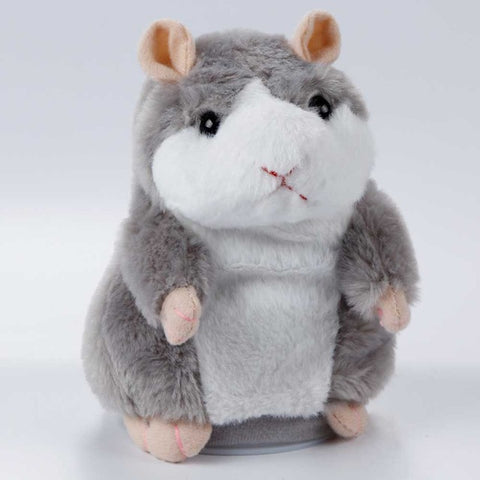 Talking Pet Hamster Electronic Animal Plush Toy - Mimics and Repeats After Words & Sounds - Special Gift for Kids, Teens, Adults