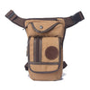 Image of Men's Canvas Drop Leg Bag Waist Fanny Pack Belt Hip Bum Military Travel Motorcycle Multi-purpose Messenger Shoulder Bags