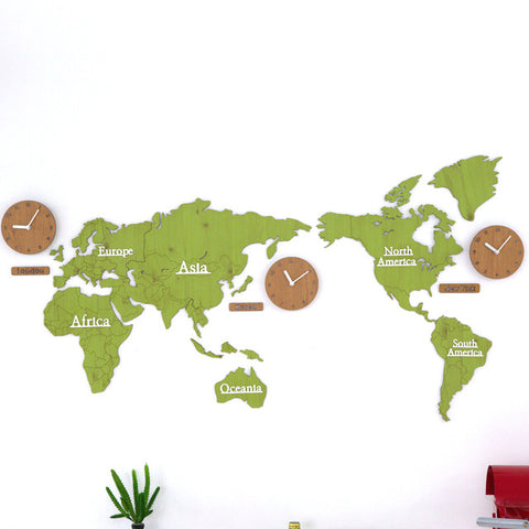 Creative world map wall clocks ideal for home or hotel simple diy creative world map wall clocks ideal for home or hotel simple diy wall art gumiabroncs Image collections