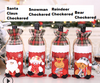 Image of Santa Claus Wine Bottle Cover Merry Christmas Decorations for Home