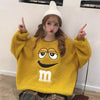 Image of Fuzzy M&M Sweater