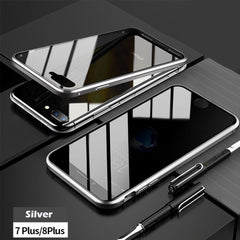 Anti-peep Magnetic Adsorption Metal Phone Case For iPhone