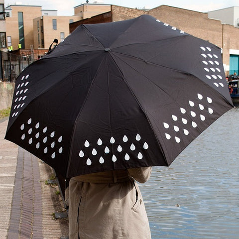 Colour Changing Umbrella When it encounters water