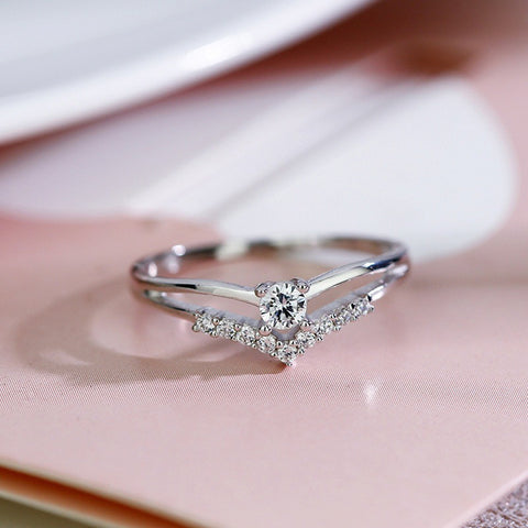 Cubic Zircon Engagement Classic Ring