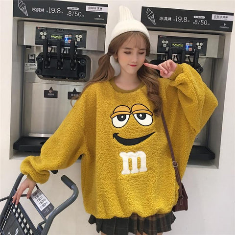 Fuzzy M&M Sweater