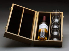 Wine Bottle Presentation Box with Goblets