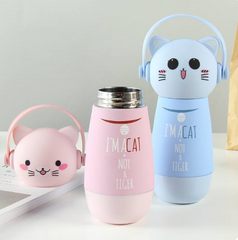 Cat Insulated Thermos Water Bottles