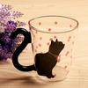 Image of MODERN CAT SILHOUETTE GLASS MUG