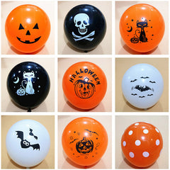 10pcs/lot Skull Bat Pumpkin Halloween Decor Balloon