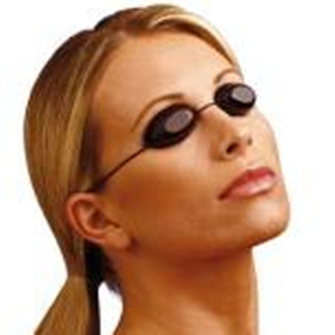 Flexible Uv Eye Protection Indoor & Outdoor Sunbed Tanning Goggles