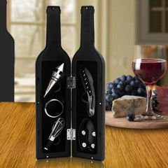 5 PIECE WINE BOTTLE DELUXE ACCESSORY GIFT SET
