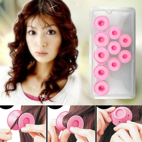 Set of 10 Silicone Hair Curlers