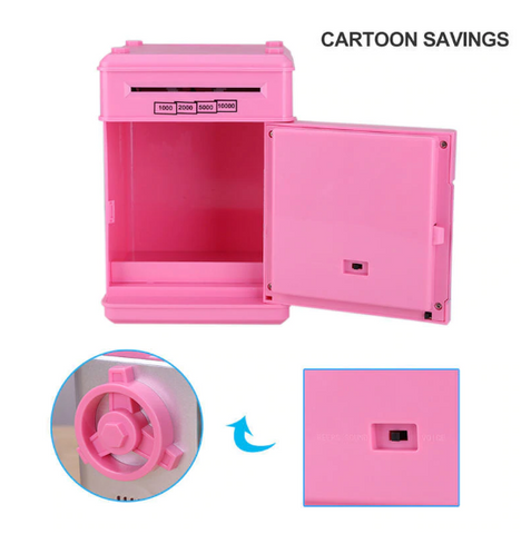 Digital Piggy Bank - Safe Deposit Box for Kids