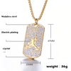 Image of Luxury Hip Hop Diamond Set with Basketball Pendant Necklace