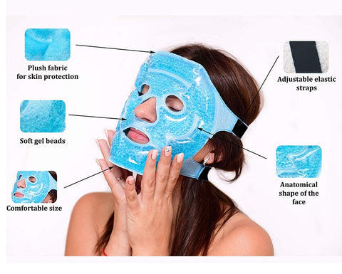 Hot & Cold Gel Full Face Mask
