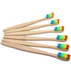 Image of Colorful Head Bamboo Toothbrush