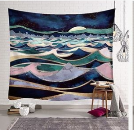 Nature Landscape Inspired Indoor Wall Art Tapestry