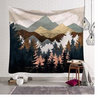 Image of Nature Landscape Inspired Indoor Wall Art Tapestry