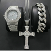 Image of Luxury Hip Hop Diamond Cross Jewelry Combo Set