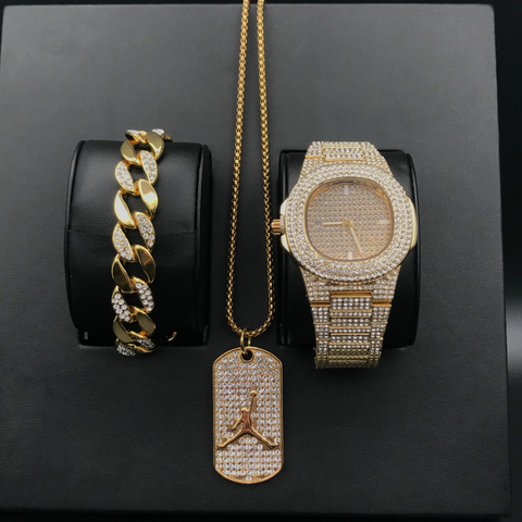 Luxury Hip Hop Diamond Set with Basketball Pendant Necklace