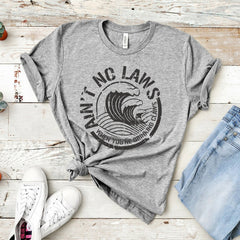 2019 Aint No Laws When Your Drinking Claws Shirt Funny White Claw T-Shirt