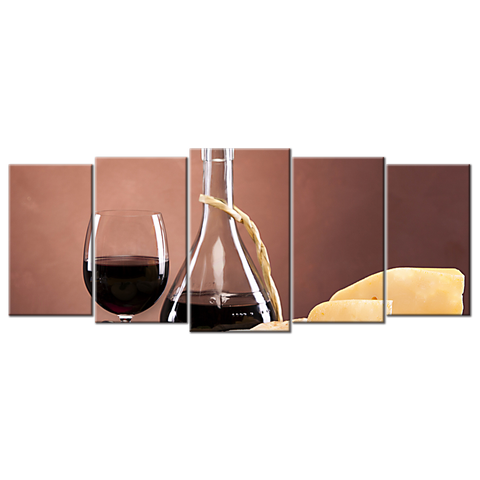 Red Wine Glass Cheese Bread - 5 panel