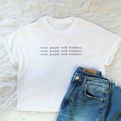 Treat People with Kindness T-shirt for Women