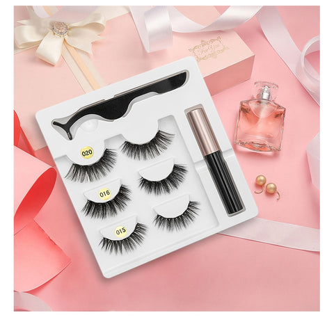 Waterproof Long Lasting Magnetic Eyelash Extension & Tweezer Set