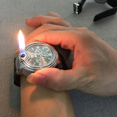 Windproof Flameless Lighter Watch