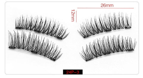 Natural Magnetic False Eyelashes w/ Gift Box