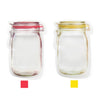 Image of 3pcs Mason Jar Zipper Bags