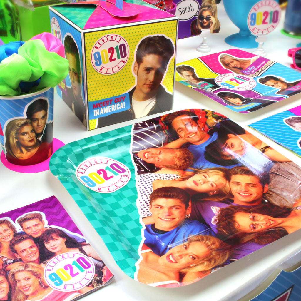 90210 Party Table Setting Plate Cup Favor Box