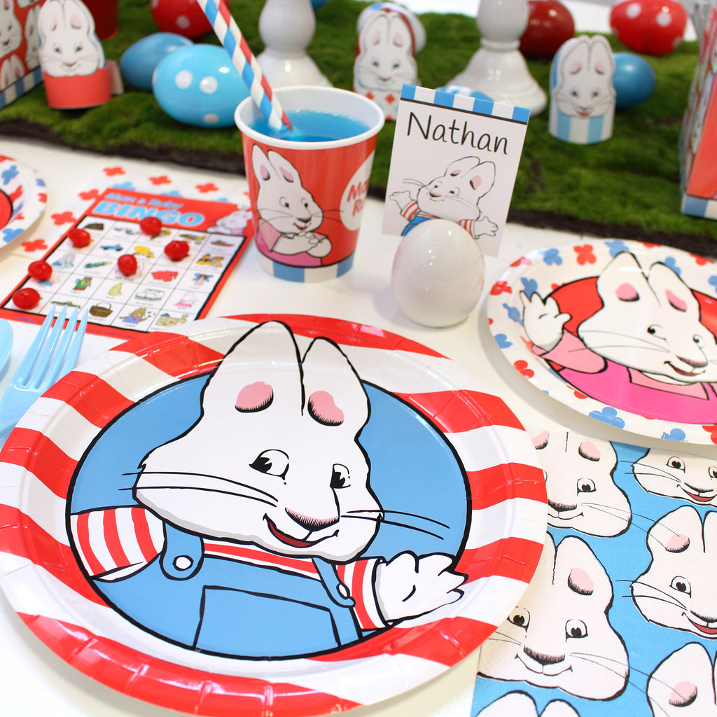 Max and Ruby Easter Place setting with plate cup napkin egg place card holder name easter egg holders printables