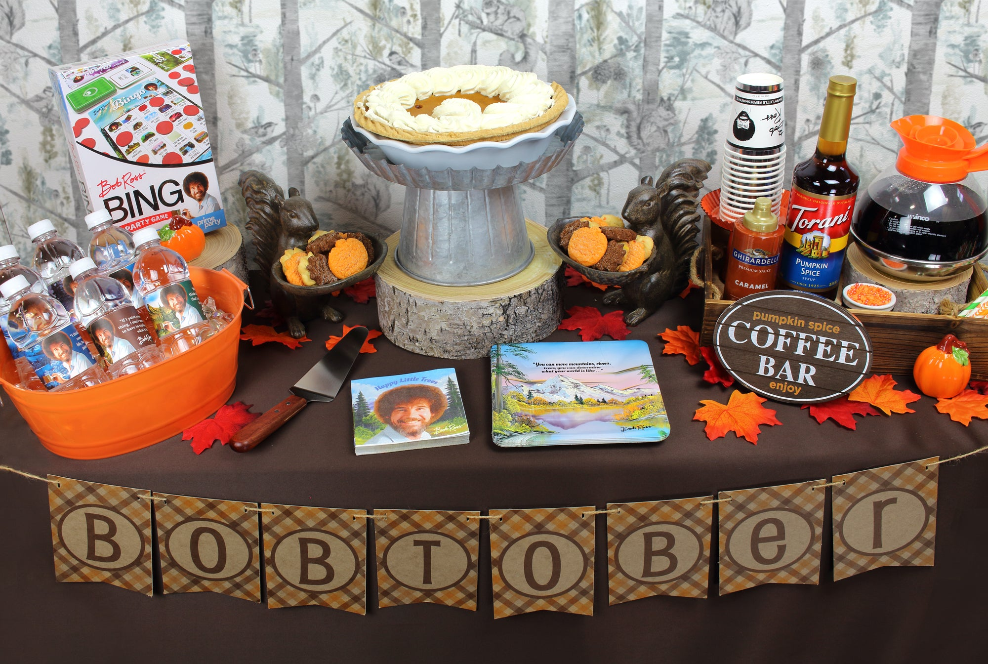Bob Ross botober Treat Table Party Birthday fall