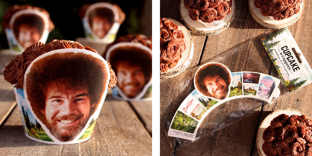 Bob Ross Cupcake Wrappers
