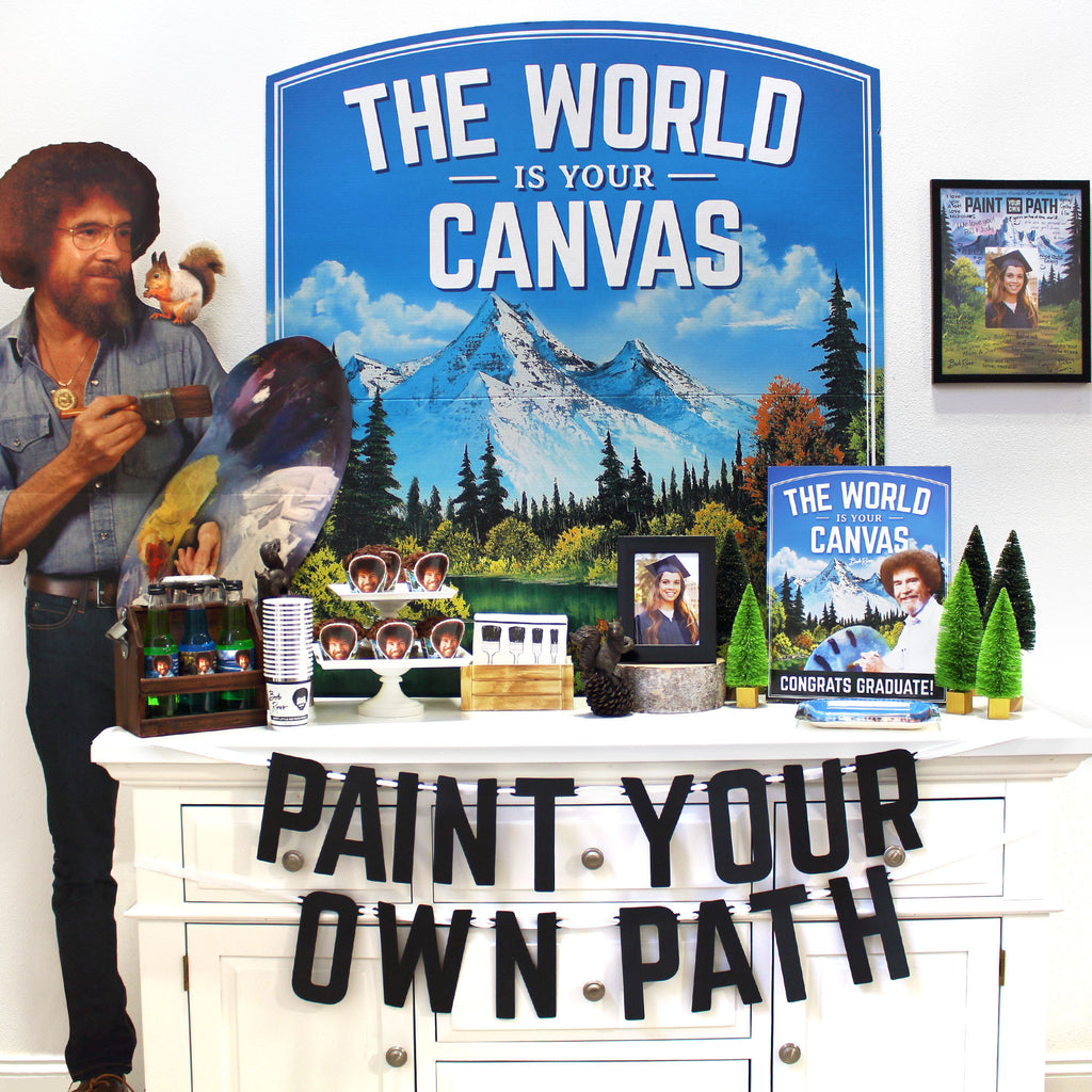 Bob Ross The World is Your Canvas Graduation Party Theme