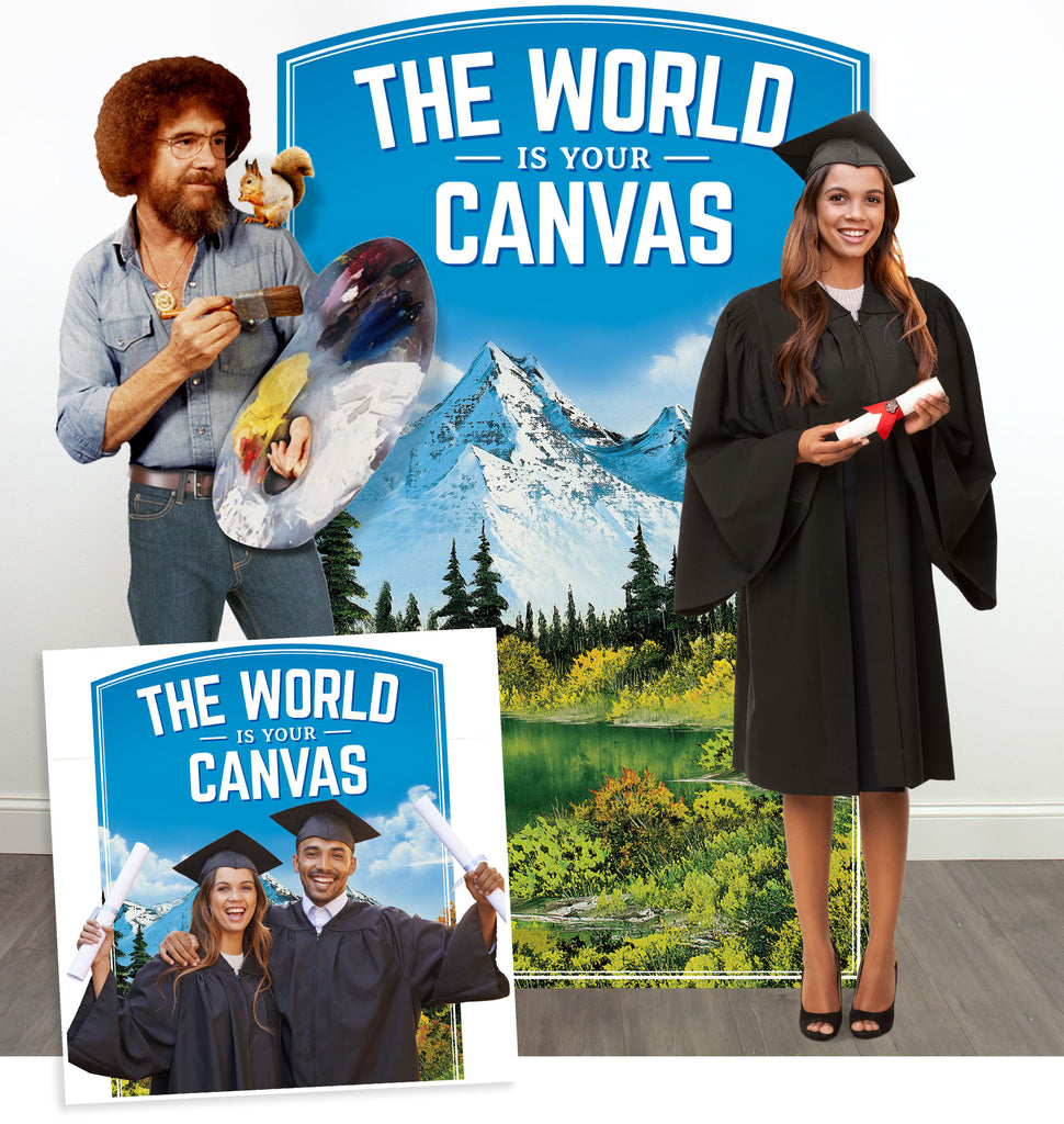 Bob Ross Photo Booth background prop for Graduation