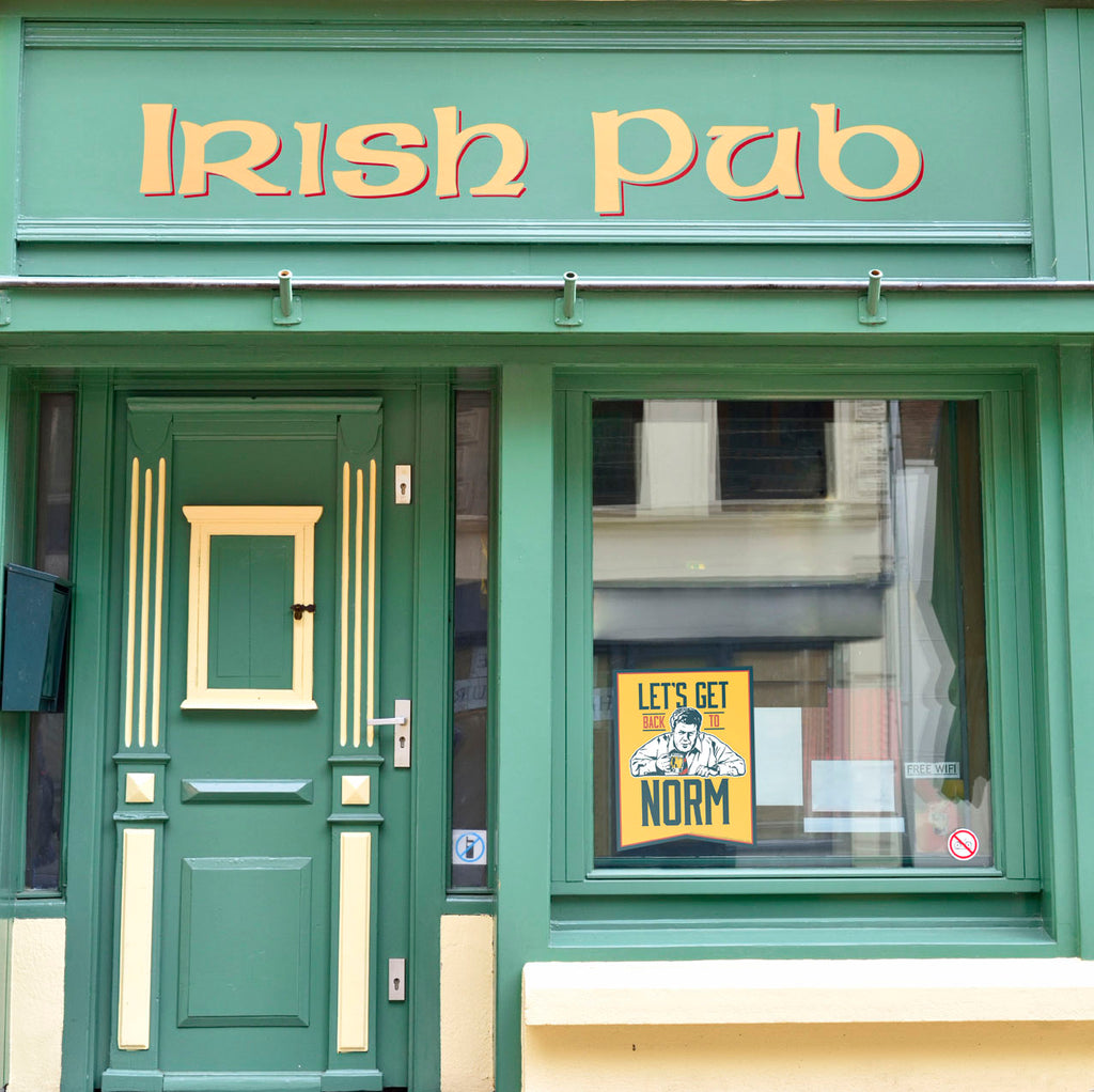 Let's Get Back to Norm Irish Pub Store front