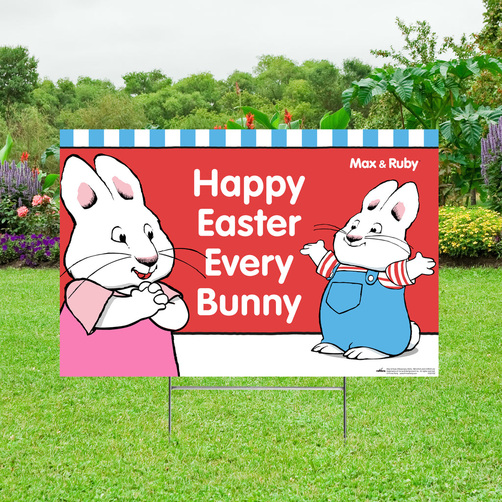 Max and Ruby Easter Yard Sign