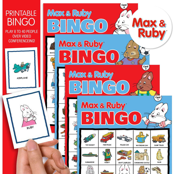 Prime Party Bingo Game Max and Ruby Printable Bingo Game