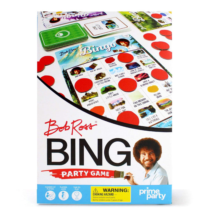 Prime Party Party Game Bob Ross Deluxe Bingo Party Game for 16 Bob Ross Bingo Party Game for 16 1040DBG