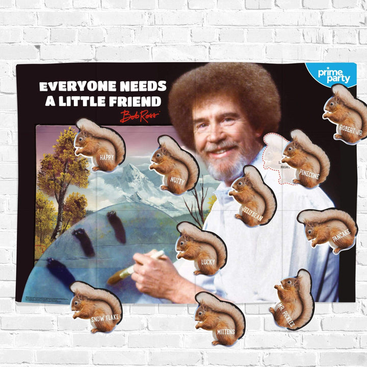 Prime Party Party Game Pin-the-Squirrel on Bob Ross Party Game 1040PTT