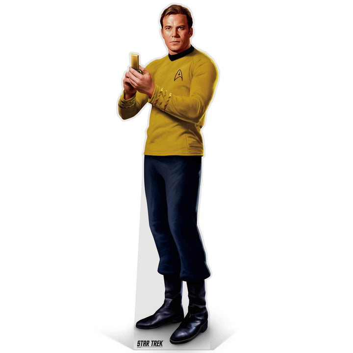 Advanced Graphics Standee Captain Kirk Life-Size Cardboard Cutout | Star Trek Captain Kirk Life-Size Cardboard Cutout | Prime Party 1080STK1