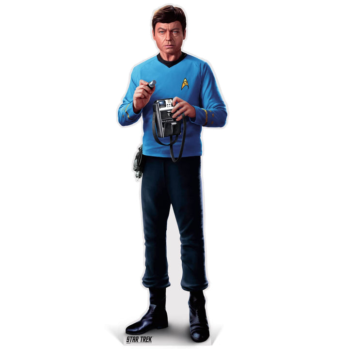 Advanced Graphics Standee McCoy Life-Size Cardboard Cutout | Star Trek McCoy Life-Size Cardboard Cutout | Prime Party 1080STM1